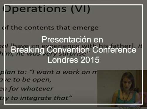 PRESENTACIÓN EN BREAKING CONVENTION CONFERENCE, LONDRES 2015.