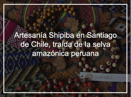 Artesanía Shipiba en Santiago de Chile, traída desde la selva amazónica peruana.